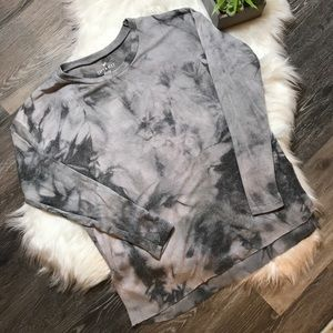 American Eagle Soft & Sexy Plush Tie Dye Knit Top